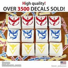 Sale Mystic Bulk 90 Pokemon Go Vinyl Decal Stickers All Teams Instinct Valor Auto Parts And Vehicles Car Truck Graphics Decals Shwetnews Com