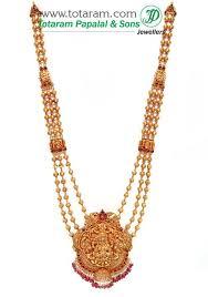 22k gold lakshmi long necklace