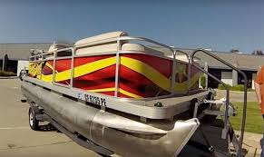 Example Of A Vinyl Wrap For A Pontoon Boat Pontoon Boat Wraps Pontoon Boat