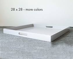 28 x 28 square ottoman tray extra large
