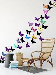 Artsy Butterfly Decor Wall Decals 30 Stickers