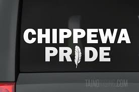 Chippewa Pride Feather Native American Decal 8 25 X 3 By Taino Rising Taino Rising