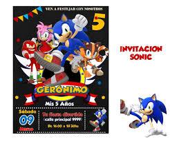 Invitacion Sonic 160 00 En Mercado Libre
