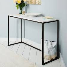 box frame console marble antique bronze