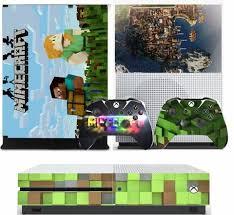 Minecraft V2 Xbox One S Slim Textured Vinyl Protective Skin Dec Nprintz