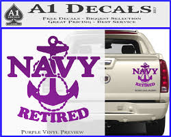 United States Navy Retired Anchor Decal Sticker A1 Decals