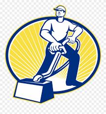 carpet cleaning man logos clipart
