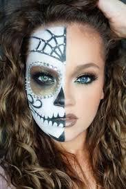 half face skull makeup man saubhaya