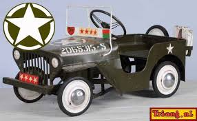 Tri Ang Triang Pedal Car U S Army Jeep White Star Bonnet Decal Peel And Stick