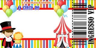 Pin De Montserrat Gomez En Fiesta Tematica De Circo Invitaciones