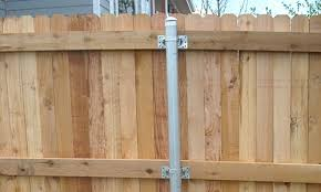 Wood Fence Post Options Metal Fence Posts