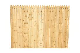 6 X 8 Cedar French Gothic Privacy Fence Panel At Menards