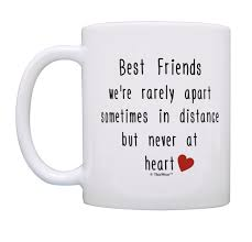 friend quote mug best friends rarely apart best friend gifts