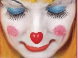 white face clown makeup you