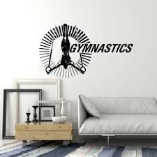Vinyl Wall Decal Gymnast Athlete Gymnastics Rings Sports Decor Stickers Ig5358 Ebay