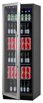 beverage beer cooler fridge with glass