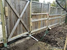 Fence Brace How To Install Sturdy Wooden Fence Posts