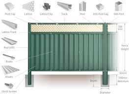 Good Neighbour Superdek 1800mm High Fence Panel Sheet Caulfield Green Post Track Banyan Brown