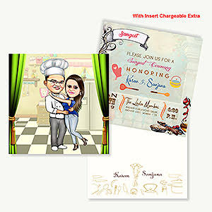 Indian Cartoon Wedding Cards
