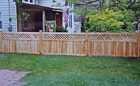 Cedar Tongue Groove Lattice Top Campanella Fence