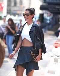 wear the ruffle mini skirt