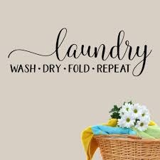 Red Barrel Studio Laundry Wash Dry Fold Repeat Wall Decal Wayfair