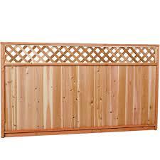Aim Cedar Works 5x8 Premium Cedar Lattice Fence Panel The Home Depot Canada