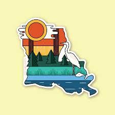 Louisiana Layers Vinyl Sticker Pixelandinkcreative