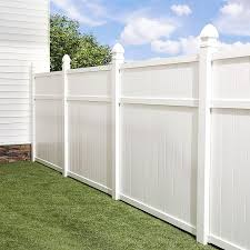 Shop Freedom Pre Assembled Brighton White Vinyl Privacy Fence Panel Common 6 Ft X 6 Ft Actual Vinyl Fence Panels White Vinyl Fence Fence Panels