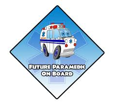 Future Paramedic On Board Window Decal Police Fire Ems Viny Graphics Stickers Decals Dkedecals