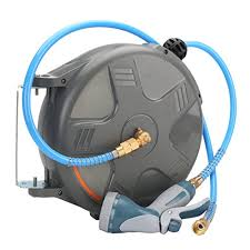 auto rewind water hose reel 33ft