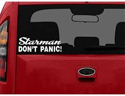 Stickerloaf Brand Starman Don T Panic Star Man Decal Car Truck Auto Window Decals Tesla Roadster Paro Funny Bumper Stickers Laptop Decal Stickers Bumper Decals