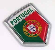 Amazon Com Portugal Portuguese Flag Car Chrome Emblem 3d Decal Automotive