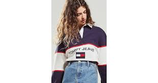 tommy jeans colorblock rugby shirt