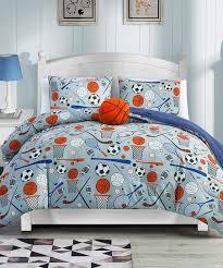 esca blue orange sports comforter set