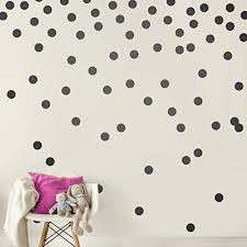 Amazon Com Black Wall Decal Dots 200 Decals Easy Peel Stick Safe On Walls Paint Removable Matte Vinyl Polka Dot Decor Round Circle Art Glitter Sayings Sticker Large