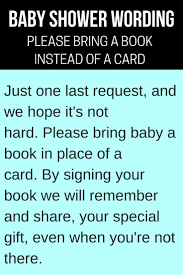 baby shower book instead of card verses
