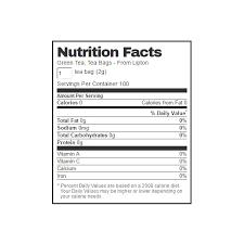 lipton tea nutrition label best label