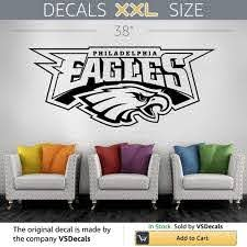 Amazon Com Homedecorstore Vinyl Decal Mural Sticker Nfl Philadelphia Eagles Hds3718 Home Kitchen