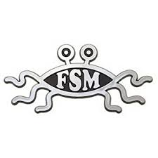 Amazon Com Ring Of Fire Flying Spaghetti Monster Car Emblem Home Kitchen