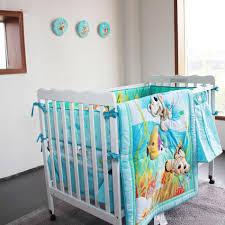 light blue ocean crib baby bedding set