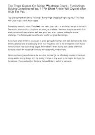 top three quotes on sliding wardrobe doors furnishings buying compl