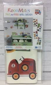 Cars Trucks 26 Big Wall Stickers Room Decor Decals Airplanes Train Tractor Plane 691164180686 Ebay