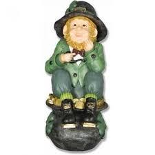 leprechaun on a pot of gold fiberglass