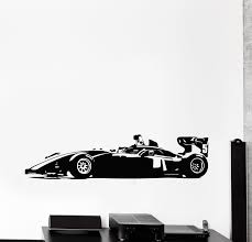 Vinyl Wall Decal Formula 1 Sports Car Karting Garage Stickers Mural G Wallstickers4you
