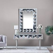 nirvana handcrafted console with mirror