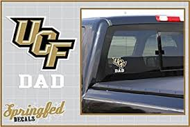 Amazon Com Ucf Knights Dad W Ucf Logo Vinyl Decal Central Florida Car Truck Sticker Automotive