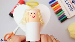 how to make a toilet paper roll angel