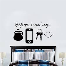 Before Leaving Reminder Quotes Vinyl Wall Stickers For Bedroom Living Room Wall Art Door Decals Self Adhesive Modern Wallpaper Buy At The Price Of 1 96 In Aliexpress Com Imall Com