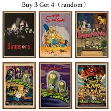 The Simpsons Vintage Style Movie Poster Posters Prints Vintage Style Poster Art Prints Home Decal Wall Decor Funny 42x30cm Wall Stickers Aliexpress